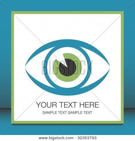 Plakative Auge mit Textfreiraum.
