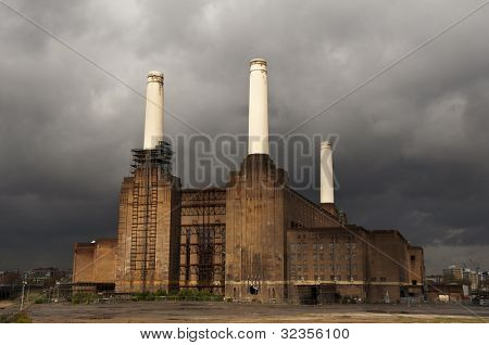Battersea power station in London, England, UK