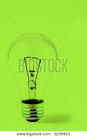 Bright Green Lightbulb
