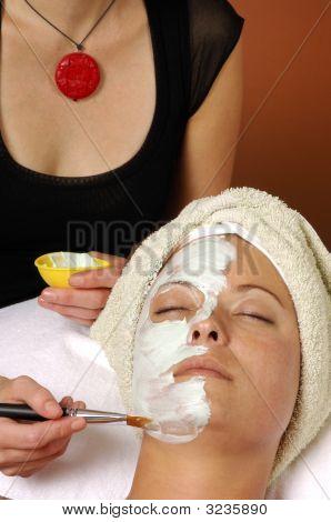 Spa Organic Facial Masque Applied By Esthetician
