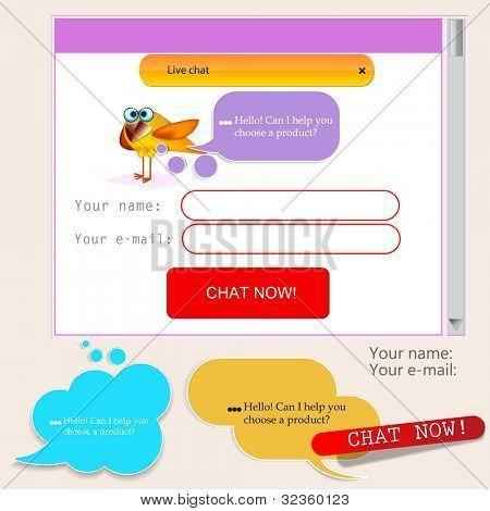 Speech bubbles for website template