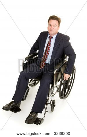 Disabled Businessman - Serious