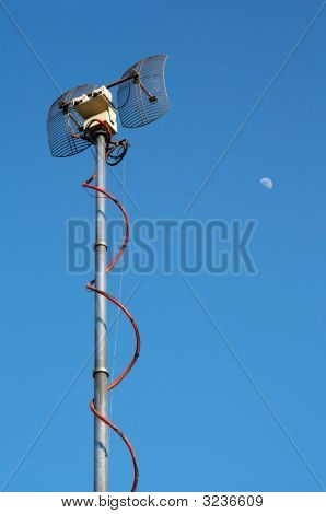 Emisor de TV antena