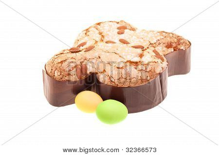 Colomba And Easter Eggs