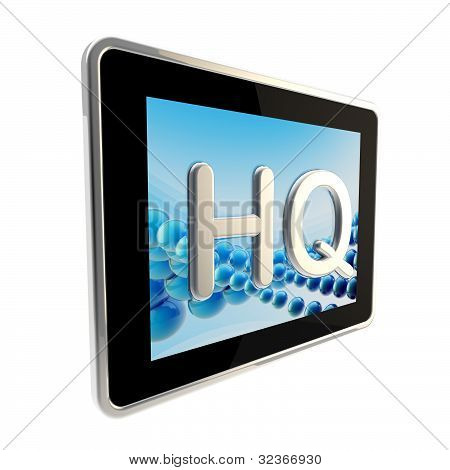 HQ high quality glossy icon as a pad screen