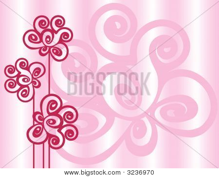 Pale Pink Spiral Flowers