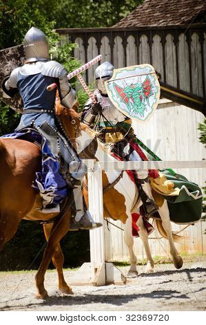 Knights jousting at Renaissance festival