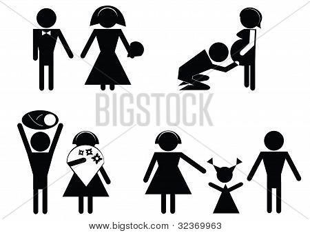 symbols happy family.