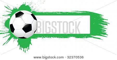 Banner with soccer ball
