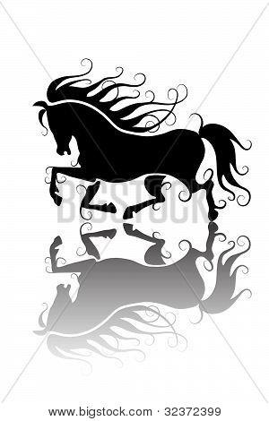 Stylized horse