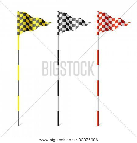 Checkered flags. Vector.
