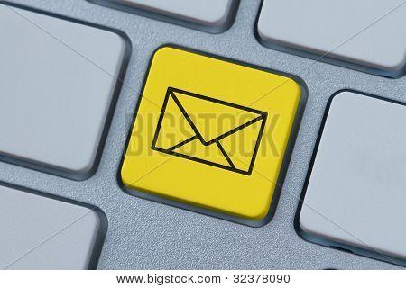 Mail Symbol At The Computer Key