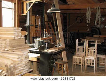 Workplace of a carpenter