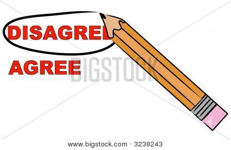 Bleistift auswählen nicht einverstanden