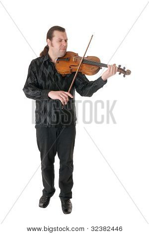 Musician Playing A Viola
