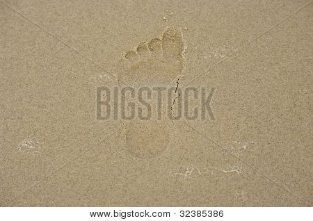Footprint In The Sand.