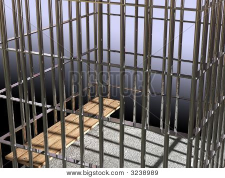 Metal Cage 3D, Concept Of Jail 02