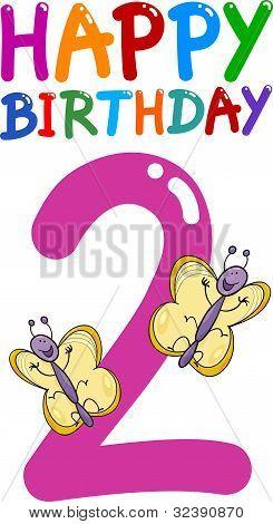 zweiten Geburtstag-Jahrestag-design