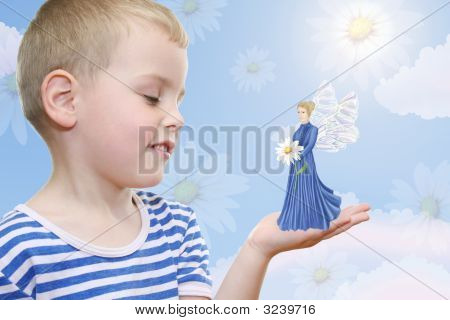 Boy Dreaming About Fairy