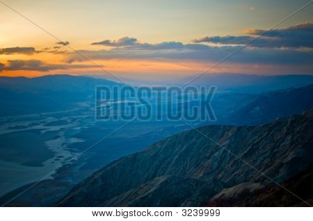 Sunset Over Death Valley, California, Usa