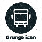 Grunge Bus Icon Isolated On White Background. Transportation Concept. Bus Tour Transport Sign. Touri poster