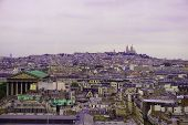 Paris, France. Cityscape Of Paris In Summer For Background. Panoramic View Of Paris From Above In Ev poster