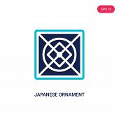 Japanese Ornament Icon In Two Color Design Style. Japanese Ornament Vector Icon Modern And Trendy Fl poster
