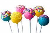stock photo of lollipops  - Cake pops - JPG