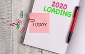 Handwriting Text 2020 Loading. Concept Meaning Advertising The Upcoming Year Forecasting The Future  poster
