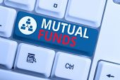 Text Sign Showing Mutual Funds. Conceptual Photo An Investment Program Funded By Shareholders Indivi poster