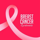 Breast Cancer October Awareness Month With Pink Ribbon poster