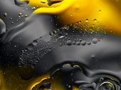 Colourful Surreal Psychedelic Abstract Liquid Background. Water And Oil Drops With Small Air Bubbles poster