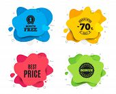 Best Price. Liquid Shape, Various Colors. Special Offer Sale Sign. Advertising Discounts Symbol. Geo poster