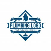 Plumbing Logo Template, Easy To Customize poster