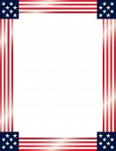 image of usa flag  - A vector illustration of a frame with the American flag theme - JPG