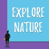 Conceptual Hand Writing Showing Explore Nature. Business Photo Showcasing Reserve Campsite Conservat poster