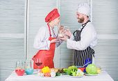Dieting Concept. Man And Woman Chef In Restaurant. Happy Couple In Love With Healthy Food Doeting. D poster