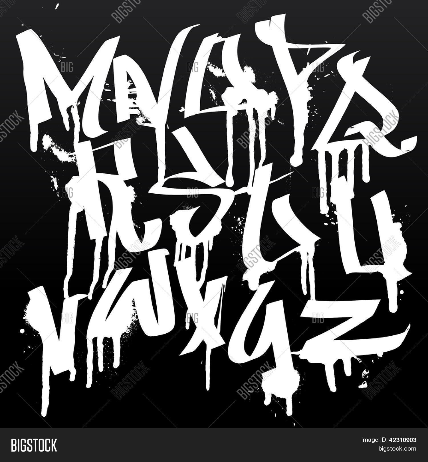Estremamente Graffiti Font Alphabet Letters. Vector & Photo | Bigstock GV83
