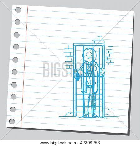 Businessman in  jail