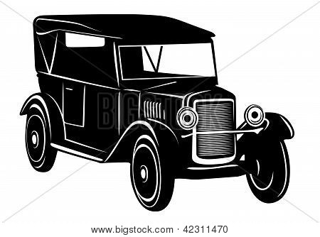 Vintage car of 1920s years