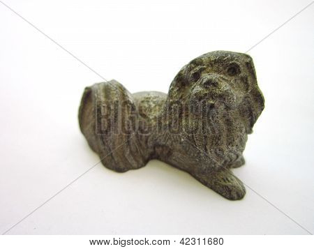 Pewter Pekingese Figurine