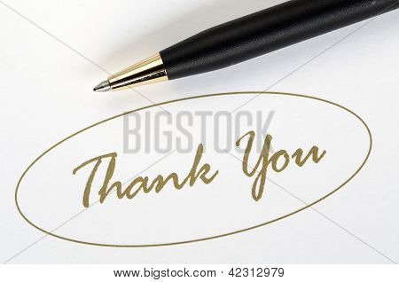 The words Thank You concepts of appreciation and thankfulness