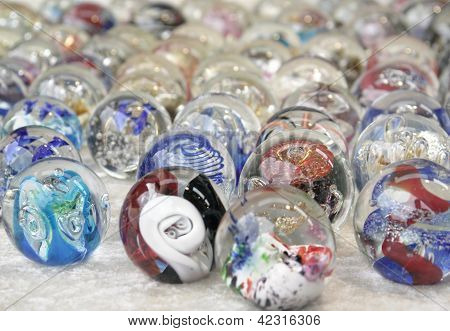 Colorfull Glass Marbles