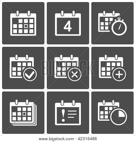 Calendar Icons set