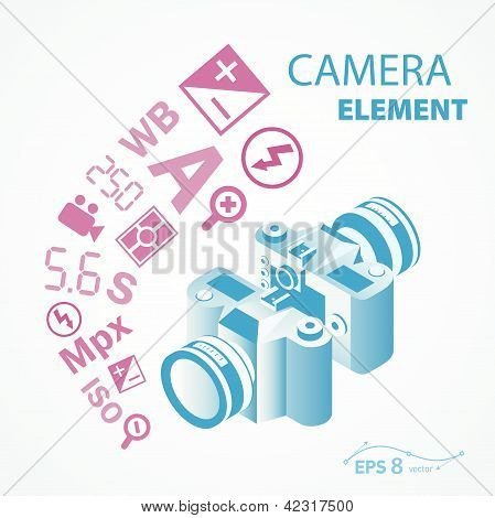 photo camera icon element