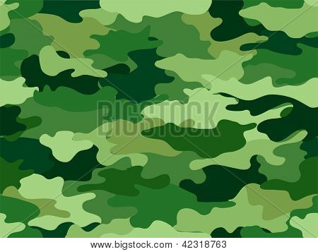 Background Illustration of Green Camouflage Print