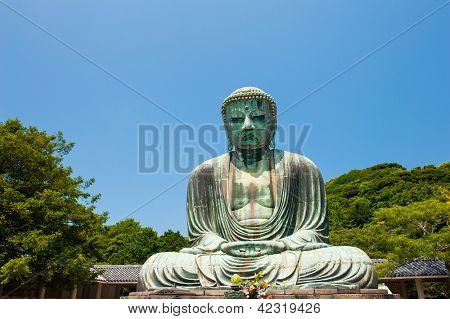 Famous Great Buddha bronze statue in Kamakura, Kotokuin Temple.