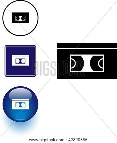 signo del símbolo de vídeo y botón
