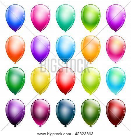 Set Of Glossy Balloons