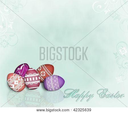 Feminine Easter Eggs Background